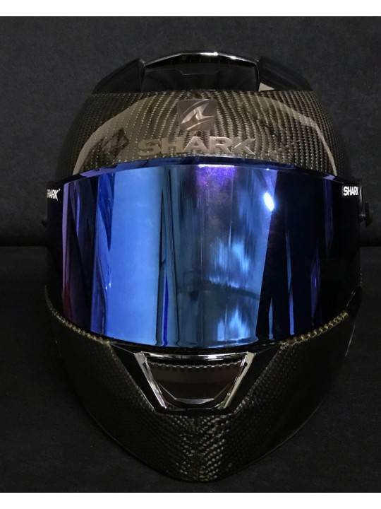 Speed R Dual Black Carbon Skin with Iridium Blue Visor. Limited Edition.